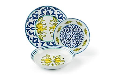 Excelsa Amalfi - Vajilla de porcelana (18 piezas)