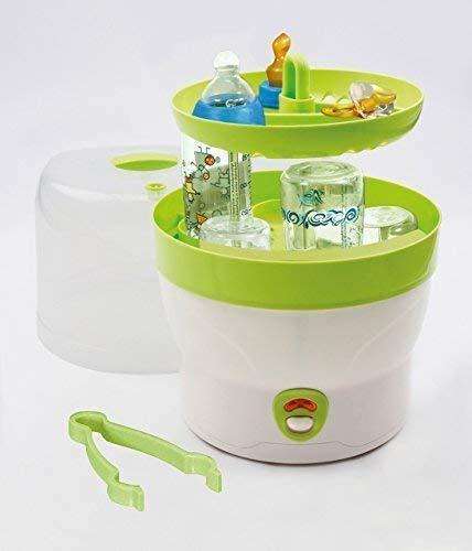 H+H BS 29g Babyflaschen-Sterilisator für 6 Flaschen in grün