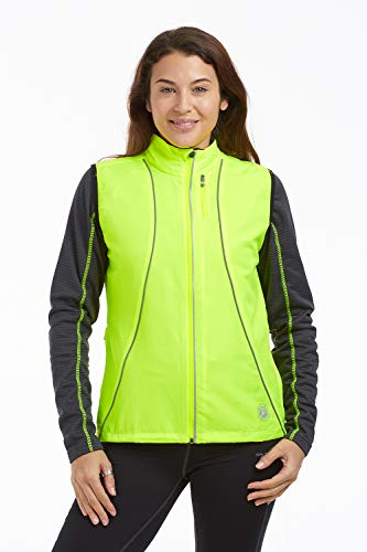 time to run Windfeste Joggingveste für Damen Limette Grün 40