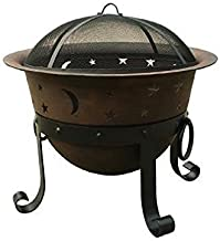 "Catalina Creations 29"" Heavy Duty Cast Iron Fire Pit 