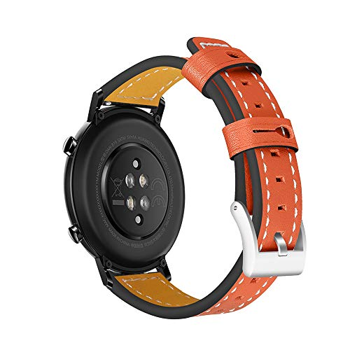 Fesjoy - Correa de piel de recambio de 20 mm, compatible con Huawei Watch GT 2 42 mm, Honor MagicWatch 2 42 mm