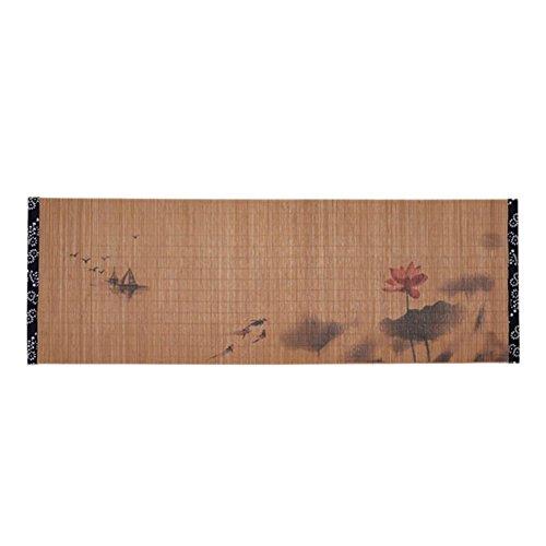 Black Temptation Malerei Bambus Matte Tee Tischdecke Tischläufer Japanische Tee Zubehör-A04