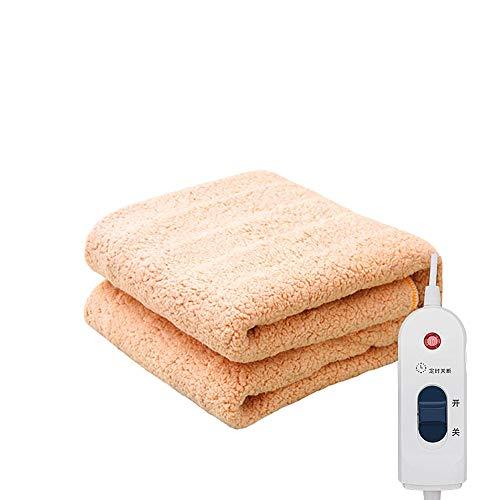 Manta térmica, manta térmica, impermeable, con 10 niveles de calor, segura, sin radiación, apta para lavadora, para cama de felpa de poliéster de 150 a 80 cm