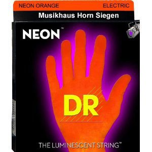 DR STRINGS - Farbige Gitarren Saiten - Neon Orange - 010 - 046