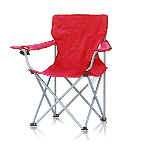 DWW Opvouwbare campingstoel met arm, ondersteuning voor het opbergen van het strand en de stoel, ergonomische, loungestoelen met hoge rugleuning voor sport picknickvissen
