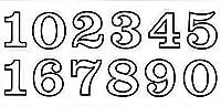 (シャシャン)XIAXIN 防水 PVC製 ナンバー 数字 ステッカー セット 耐候 耐水 数字 キャラクター ミニサイズ 表札 スーツケース ネームプレート ロッカー 屋内外 兼用 TSS-110 (1点, ホワイトXブラック)