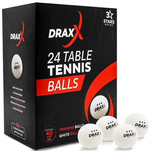 DRAXX Sports Balles de Ping Pong [ Pack de 24 /...
