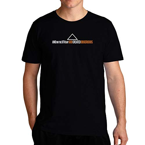 The Didgeridoos T-Shirt by Eddany. Black T-Shirt 100% cotton. Great for gifts, holidays, anniversaries and other special occasions. Wash Cold, Dry Low. The design is printed with new age printing technology.
