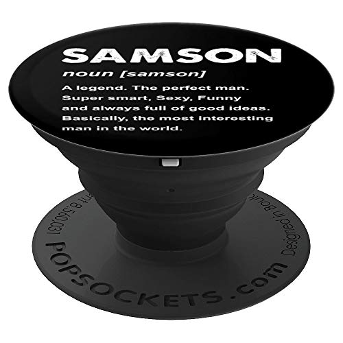 Samson Name Gift PopSockets Grip and Stand for Phones and Tablets