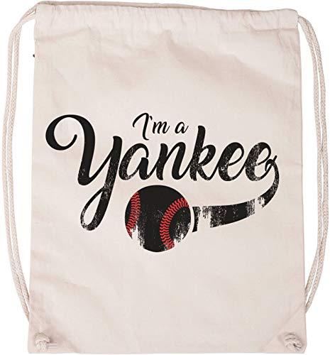 EZYshirt® I`am a Yankee Baseball Shirt Baumwoll Stoffbeutel