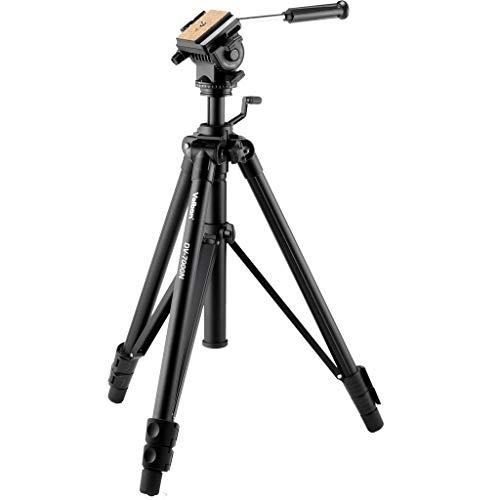 Tr/ípode para c/ámara de v/ídeo Altura: 153,5 cm Color Negro Velbon Videomate-438
