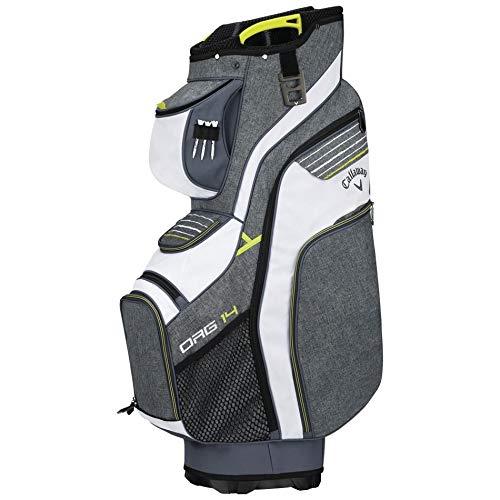 Callaway Golf 2018 Org 14 Cart Bag, Red/ Titanium/ White