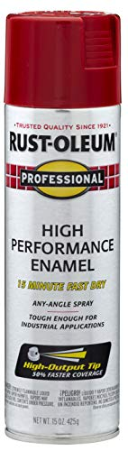 Rust-Oleum, Safety Red 7564838 Professional High Performance Enamel Spray Paint, 15 oz