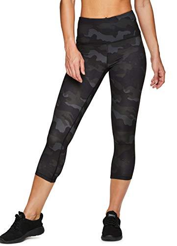 RBX Active Women's Running Workout Yoga Peached Camo Capri Legging Black Camo S