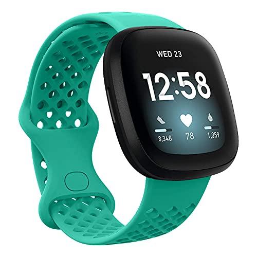 Chainfo Compatible con Fitbit Versa 3 / Fitbit Sense Correa de Reloj, Banda de Reemplazo Silicona Suave Sports Pulsera (Pattern 9)