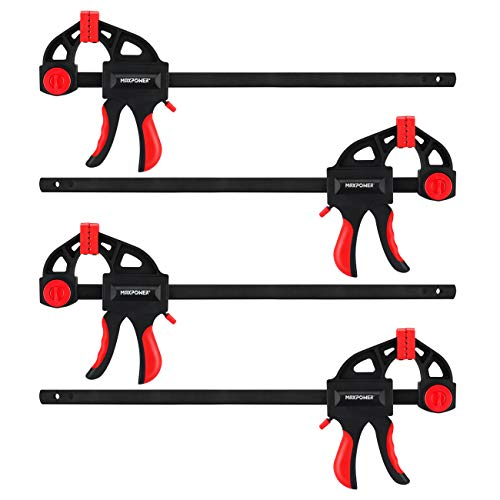 MAXPOWER 12-inch Bar Clamp and 19-inch Spreader, Pack of 4