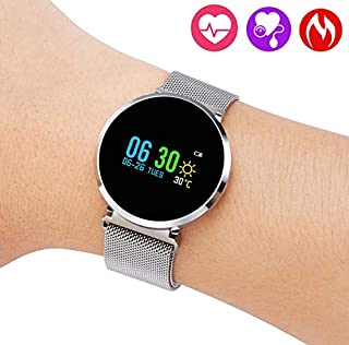 QiyuanLS Fitness Tracker - Activity Tracker with Step Calories Counter - Waterproof SmartWatch with Heart Rate Monitor for Men and Women - Fit Android & iPhone