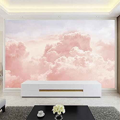 BLZQA Fotomurales Papel pintado tejido no tejido Murales moderna Nubes rosadas Arte de la pared Decoración de Pared decorativos 350x250 cm-7 panelen