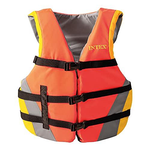 Intex 69681 - Chaleco para flotar adulto, flotación para adultos, ayuda a la flotación, peso 40-70 Kg