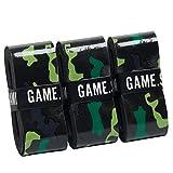 GAME.SET.WIN. Camo Grips – Die neuen Camouflage Griffbänder (3er-Pack) in Grün, Blau, Pink | Tennis, Squash, Badminton | nachhaltige Verpackung | Overgrip Griffband | starker Grip |