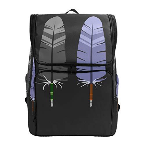 Fantazio - Stylos Plume pour Ordinateur Portable Inkwell - Sac à Dos de Voyage, randonnée, Camping - Sac à Dos décontracté - Grand Sac à Dos pour l'école