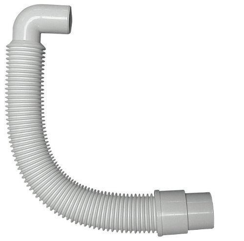 Flexibles Anschlussrohr, Anschluss 40/50 mm für Spülen-Geruchsverschluss, Abflussrohr, weiß
