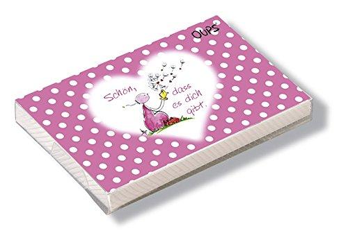 Oups Kärtchenbox Rosa: Schön, dass es dich gibt