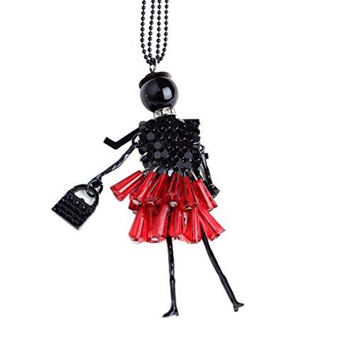 Bobury Maglione Donne Catena di Modo della Ragazza di Cristallo della Collana del Pendente Maglione Lungo collane