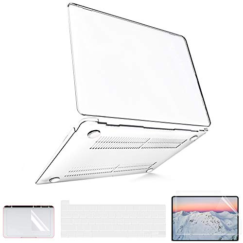 B BELK MacBook Pro 16 inch Case, 2019 MacBook Pro 16\' Crystal Case A2141, Ulta-Transparent Laptop Hard Shell Plastic Cover with Screen Protector & Keyboard Cover & Trackpad Protector, Crystal Clear