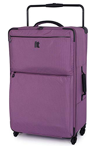 IT Luggage World's Lightest 74cm Large Four Wheel Spinner Suitcase Purple Two Tone