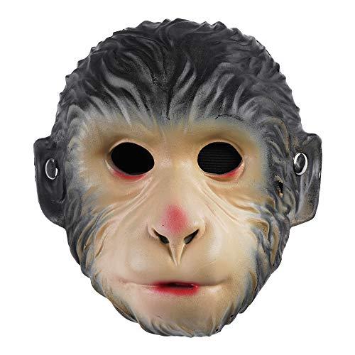EraSpooky Maschera Scimmia Animale Accessori per Costumi in Maschera Festa di Halloween Vestito Divertente per Donne Uomini Adulte