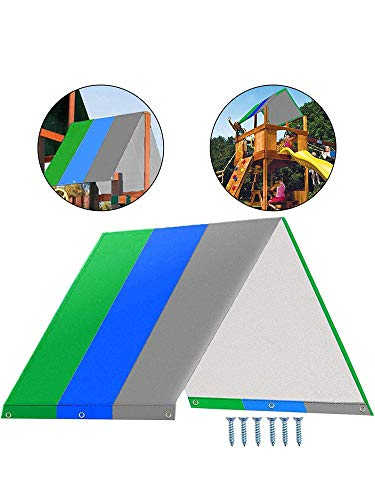 Swing Canopy, Playground Roof Cover Swing Top Cover Swing Sunshade Replacement Canopy Cover Waterproof Replacement Roof for Patio Yard Seat Children's Play