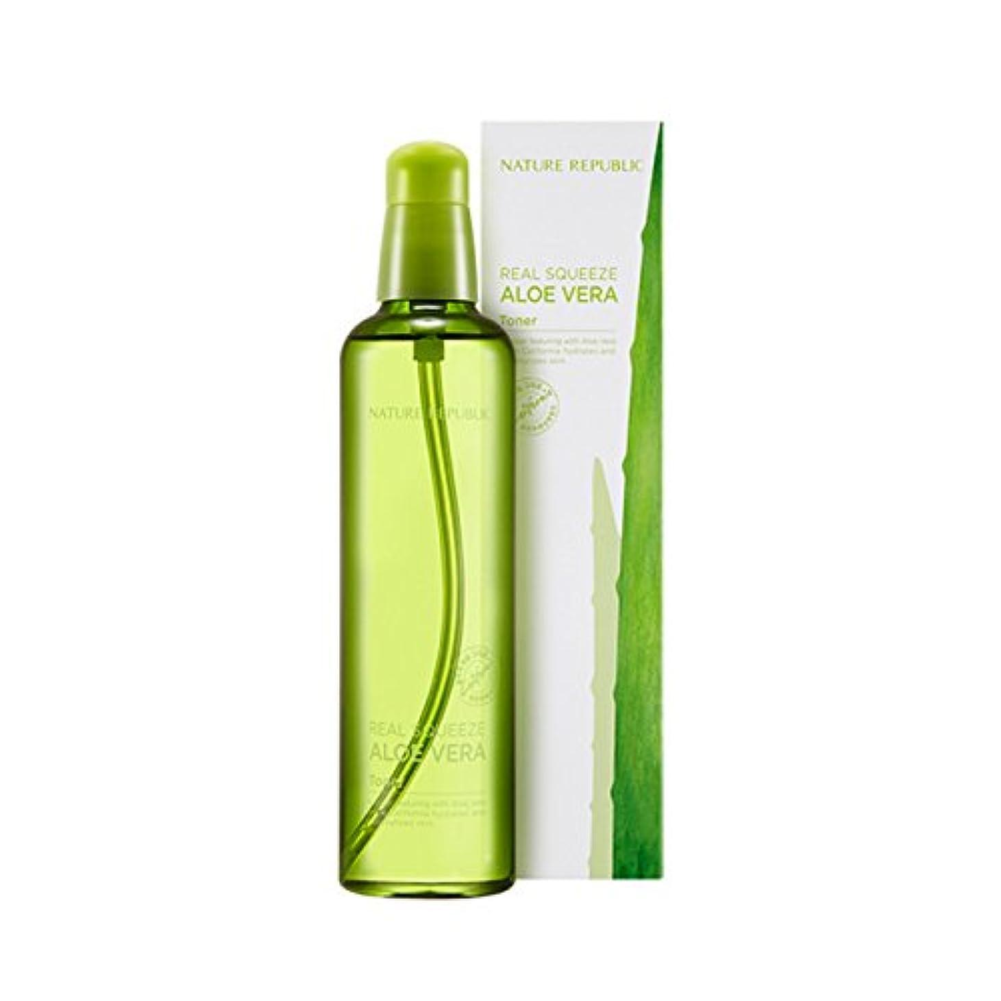 熟す大事にする遠足[ネイチャーリパブリック] Nature Republic リアルスクイーズアロエベラエマルジョントナー Real Squeeze Aloe Vera Emulsion Toner (Toner) [並行輸入品]