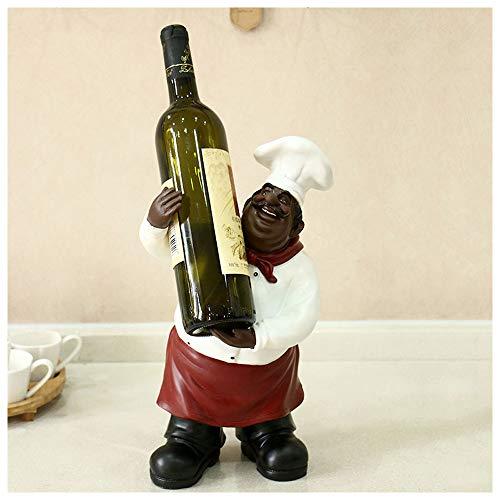 Meet World Wine Rack Chef Pequeños Adornos Hogar Mesa Personalidad Wine Rack Restaurante Vinoteca Decoración Wine Rack