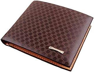 Mens PU Leather Wallet Clutch Bifold Money Clip Billhold, Light Coffee