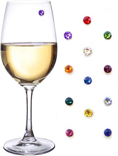 Dizie 12 pz magneti in Vetro di Vino marcatori magnetici per la Festa di Natale del Capodanno Vino Champagne