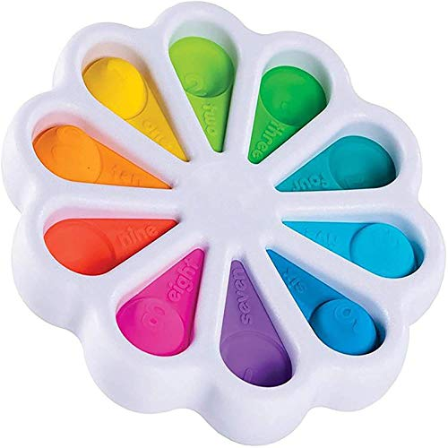 PfryShx Simple Dimple Flower Sensory Toys,Rainbow Flower Bubble Fidget,nxiety Relief ADHA Autism,for Babies and Toddlers