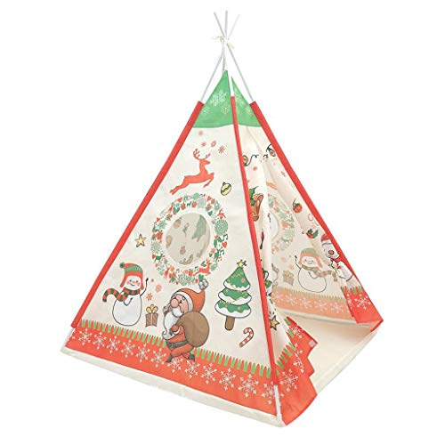 YJYdadaS Christmas Decoration Tent Kids Teepee Simulation Toy Children Tent Princess Play House Christmas Indoor Toy House with Storage Bag