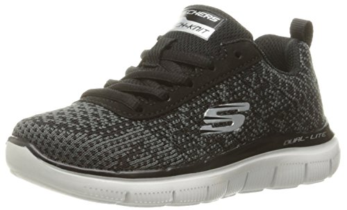 Skechers Skechers Jungen Flex Advantage 2.0-GOLDEN POI Sneakers, Schwarz (BKCC), 28 EU