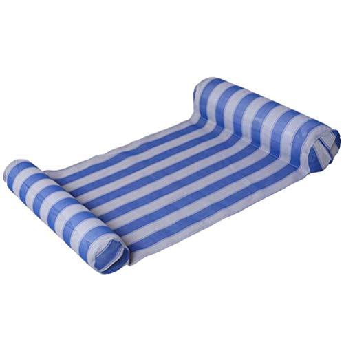 Deeabo Streifen Swimmingpool Schwimmt Wasserbett, Luftmatratze Aufblasbare Schlafenbett Wasser Hängematte mit Luftpumpe, Nichtstuer Schwimmen Hängematte Schlauchboot Sich Hin Herbewegender Stuhl, Bue
