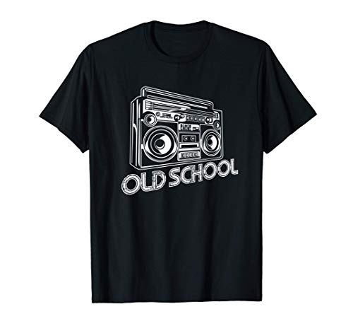 Old School Boombox 80s Rap T-Shirt, 5 Colors, Adults, Kids Up to 3XL