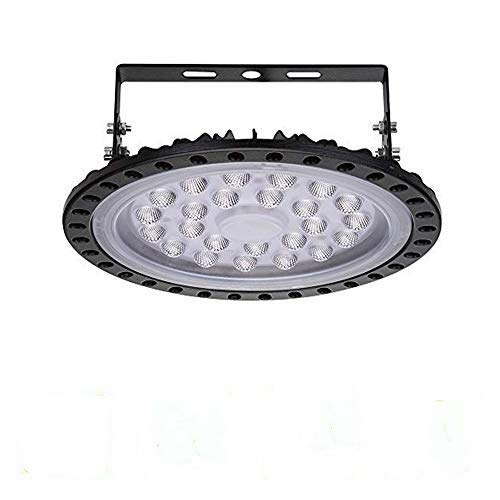 UFO Iluminación LED Alta, Lámpara Industrial Ultra Delgada,Lámpara Industrial de Blanco Frío 6000-6500K (100W, 1Pack)