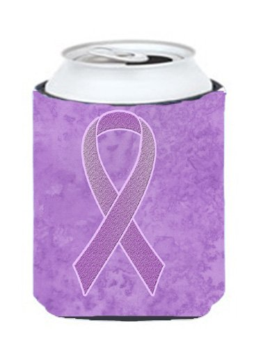 Caroline's Treasures AN1200CC Lavender Ribbon for All Cancer Awareness Can or Bottle Hugger, Can Hugger, multicolor