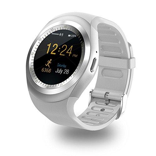 SFNTION Y1 Bluetooth-Smartwatch mit rundem Touchscreen, Handyuhr