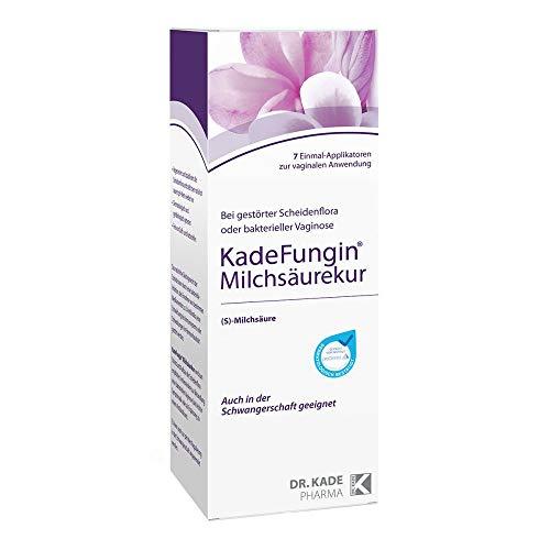 KadeFungin Milchsäurekur mit Milchsäure: Die Regenerations-Kur, 7 Einmal-Applikatoren zur vaginalen Anwendung
