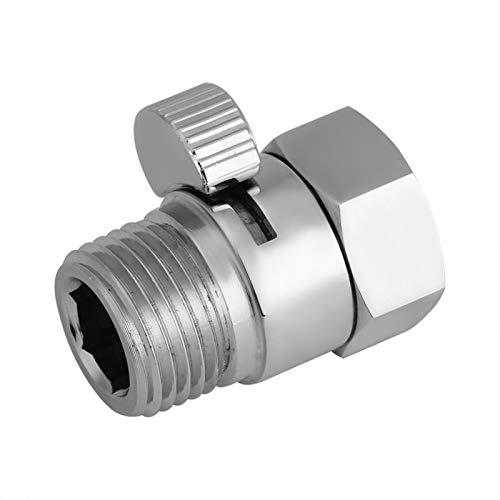 Válvula ahorradora de agua, construcción de latón macizo Núcleo interior de cerámica Resistencia a la oxidación Durable Control de flujo robusto Apagado para cabezal de ducha Pulverizador de bidé manu