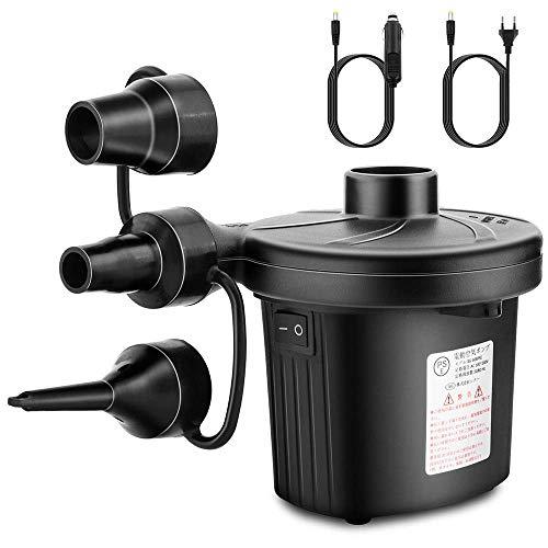 Elektrische Luftpumpe, Luftpumpe mit 3 Luftdüse, 2 in 1 Inflate und Deflate Elektrische Pump für aufblasbare Matratze,Sofa,Luftmatratze Pool,Boot,Schwimmring
