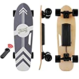 Tooluck 27.5' Electric Skateboard, 20KM/H Top Speed, 350W Singal Motor, 8KM Range, Maximum Load 80kg, 7 Layers Maple Longboard with Wireless Remote Control for Adult Youth (Black)