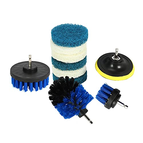 Fltaheroo 10 unids/set Power Scrubber Brush Drill Brush Limpieza de superficies de baño herramienta de limpieza tina ducha azulejos lechada inalámbrico Scrub Cleaner