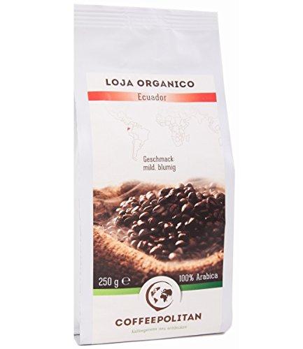 Coffeepolitan Loja organico - Röstkaffee aus Ecuador - ganze Bohne 250g 1 Packung